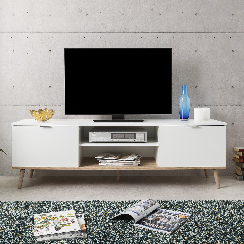 Ihr 24h Gartenmobel Shop Tv Board Holz Weiss Tv Schrank Lowboard Tv Bank Unterschrank