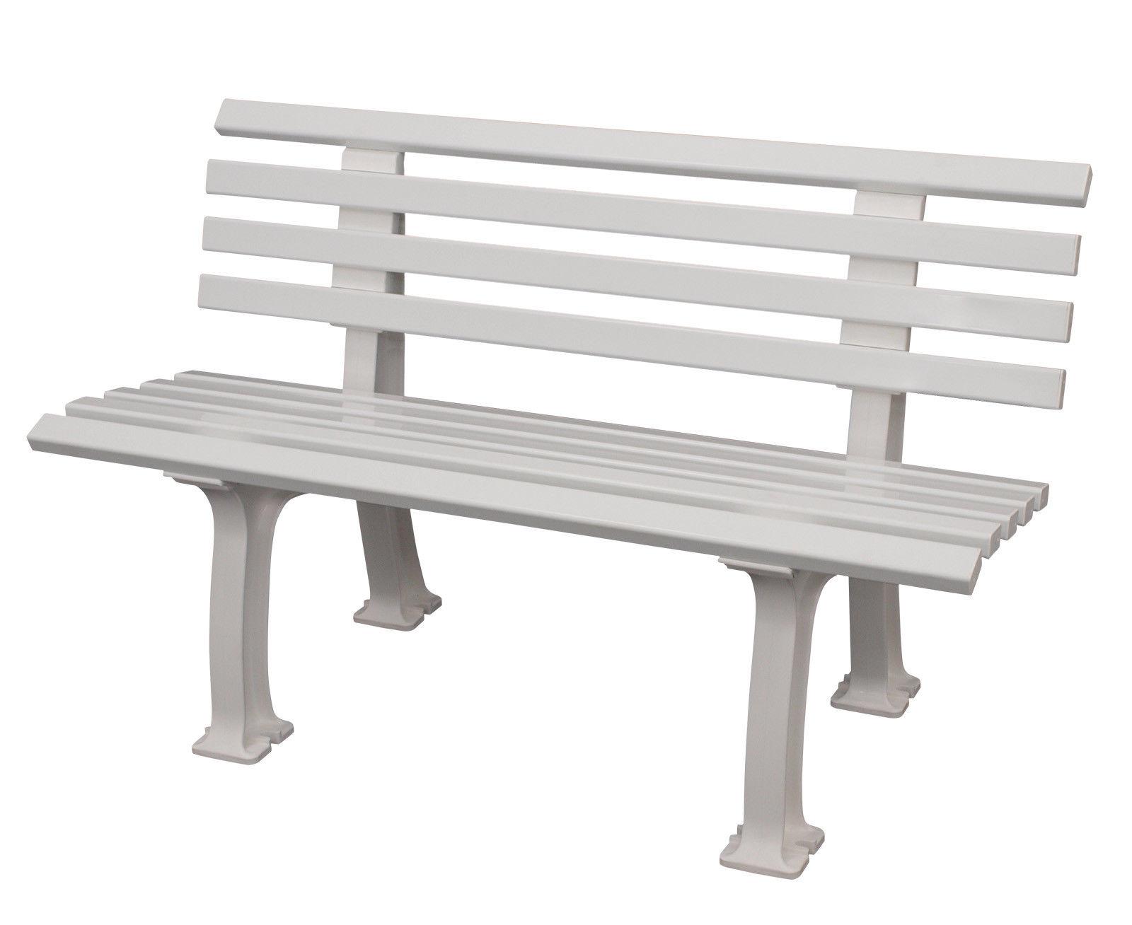Bank Ibiza 2 Sitzer Kunststoff Weiss